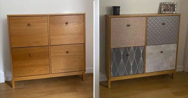 the cabinet before and after