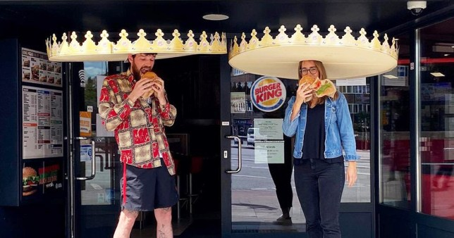 Burger King social distancing crowns (Picture: Burger King)