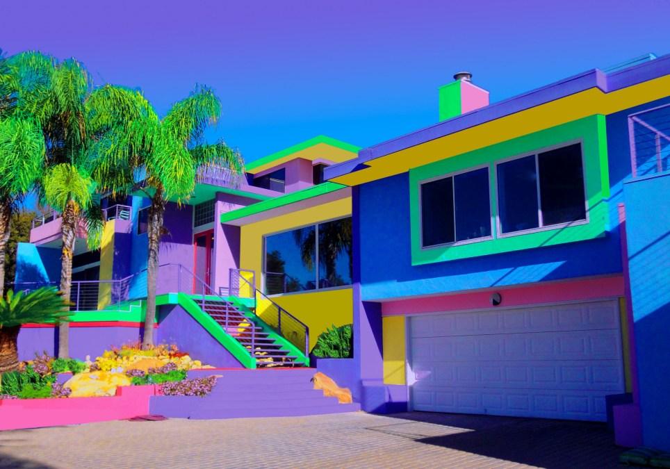 Jane Gottlieb's rainbow house in Santa Barbara, California