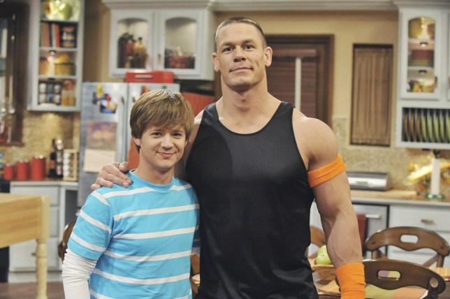 Jason Earles and John Cena