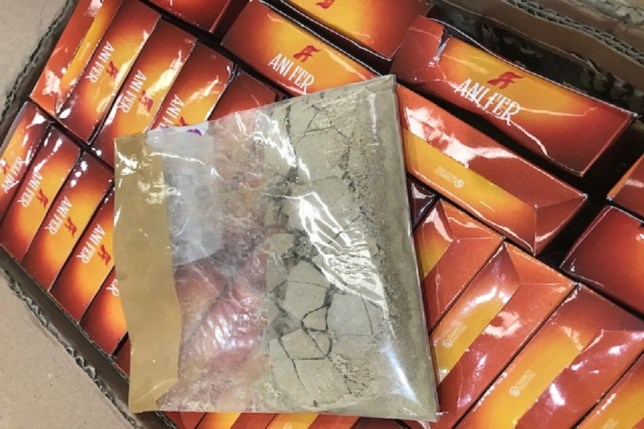 ?8.5 million of heroin found in boxes of fruit and nuts at airport Border Force officers at Heathrow Airport have prevented an attempt to smuggle more than 170 kilos of heroin into the UK. The seizure, which had a potential street value of around ?8.5 million, happened on Thursday (21 May). The drugs were found in a freight consignment consisting of 630 commercial boxes of fruit and nuts and were hidden in envelopes concealed in the outer cardboard box walls. Each outer box contained approximately 270 grams of heroin. Following the seizure, the investigation was passed to the National Crime Agency (NCA). Two men (aged 36 and 51) were arrested in the Bradford area on Friday (22 May) on suspicion of importing Class A drugs and a third man was arrested in Birmingham on Saturday (23 May). All three were later released under investigation.