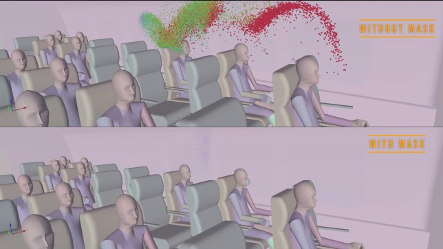 Video shows how coronavirus can easily spread on a plane