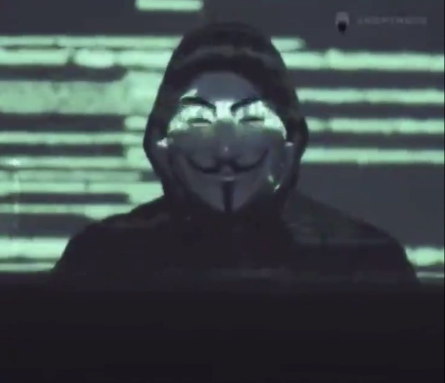 An announcement from hacker group Anonymous