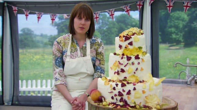 Television programme : Great British bake off. Frances Quinn?s Winning Wedding Cake, Series 4 YEAR