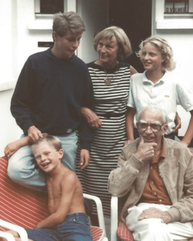 Rutger Bruining with his grandfather