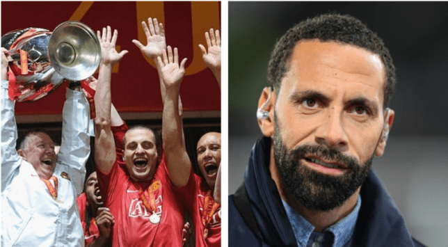 Rio Ferdinand was a key part of the Man Utd side which won the Champions League and Premier League double in 2008