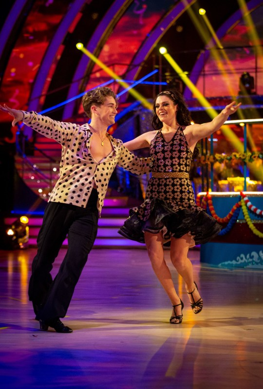 AJ Pritchard dancing on Strictly Come Dancing