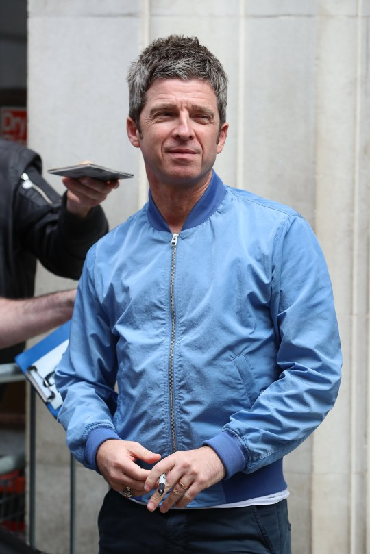LONDON, ENGLAND - MAY 31: Noel Gallagher seen leaving BBC Radio 2 on May 31, 2019 in London, England. (Photo by Neil Mockford/GC Images)