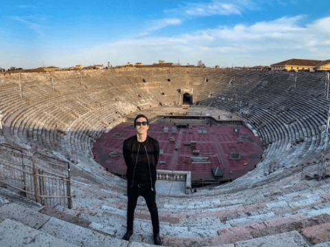 Italy's Eurovision entry Diodato singing in the empty Verona Arena will give you chills