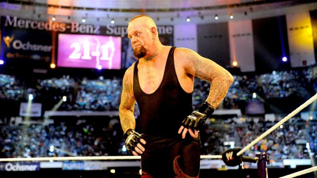 WWE legend The Undertaker after his WrestleMania 30 match with Brock Lesnar
