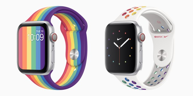 The Apple and Nike Pride Bands for Pride 2020 (Apple)