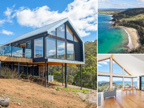 Take a look at this incredible bungalow hidden in the hills of Tasmania