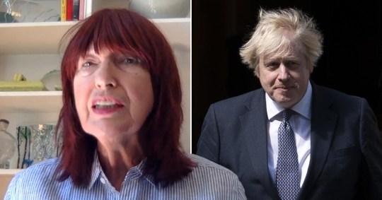 Janet Street-Porter and Boris Johnson