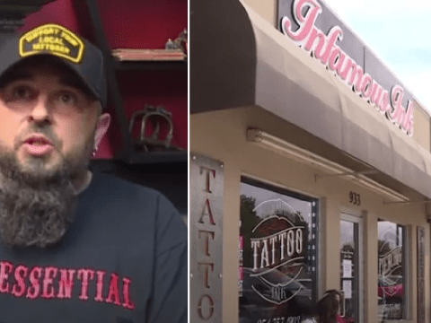 Tattoo shop defies coronavirus shutdown order to reopen