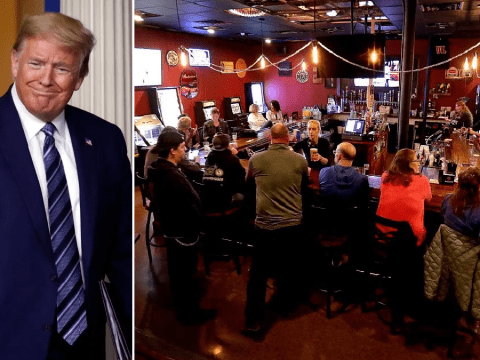 Donald Trump hails 'bustling' bars after court strikes down state's coronavirus lockdown order