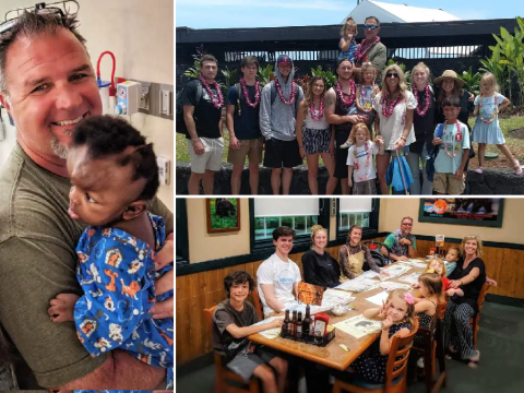 Supermom of 11 with 8 adopted children gets as little as one hour's sleep each night