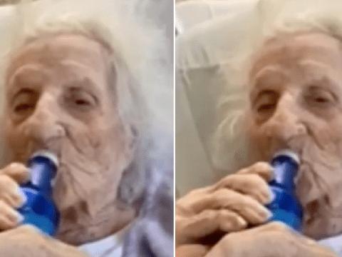 Great-great grandma, 103, cracks open ice-cold beer to celebrate beating coronavirus
