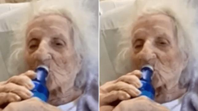 Photos de la survivante du coronavirus Jenny Stejna buvant une bière de fête