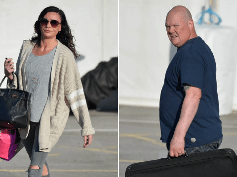 Emmerdale's Lucy Pargeter and Dominic Brunt pictured back on set during lockdown