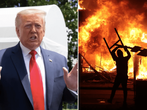 Donald Trump denies stoking race riots and says his MAGA fans 'love the black people'