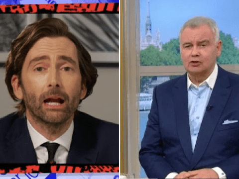 David Tennant throws shade at Eamonn Holmes as he jokes about presenter's 'tinfoil bungalow'