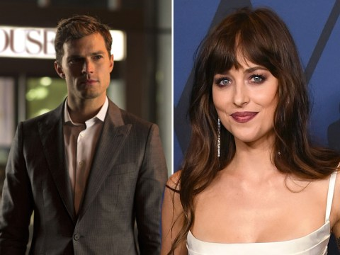 Dakota Johnson forced to pick between Jamie Dornan and Christian Grey in Would You Rather game