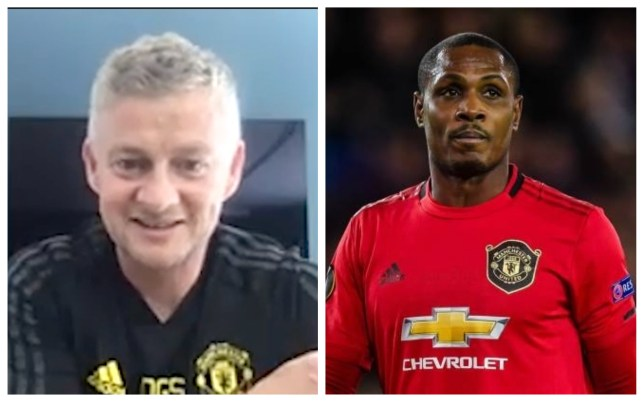 Manchester United's Ole Gunnar Solskjaer and Odion Ighalo