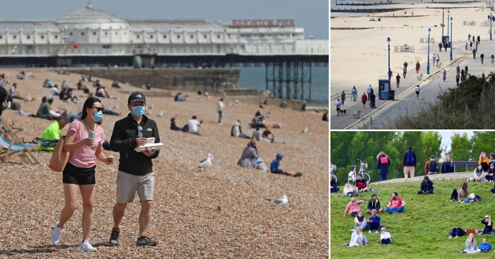 Pictures of beauty spots in England crowded with visitors on the first weekend of lockdown being eased