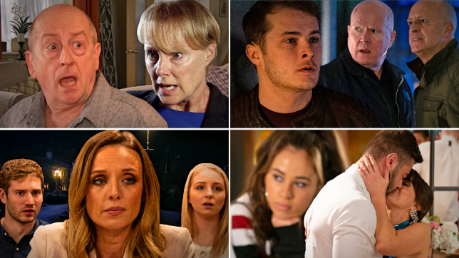 Geoff and Sally in Coronation Street, Ben, Phil and Danny in EastEnders, Andrea, Jamie and Belle in Emmerdale, and Cher, Mercedes and Sylver in Hollyoaks