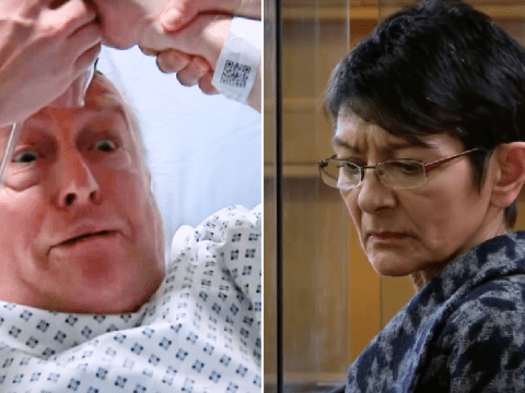 Coronation Street spoilers: Geoff Metcalfe wakes up and accuses Yasmeen Nazir of trying to kill him