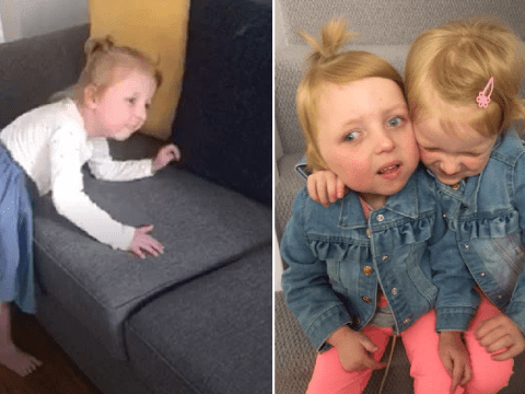 Girl whose parents were told she would never walk takes first steps in lockdown