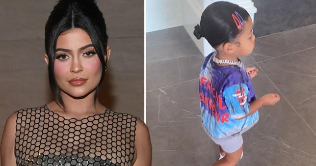 Kylie Jenner pictured alongside daughter Stormi Webster