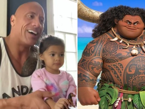 The Rock's daughter still doesn't believe he is Maui in Moana despite his best efforts to impress her