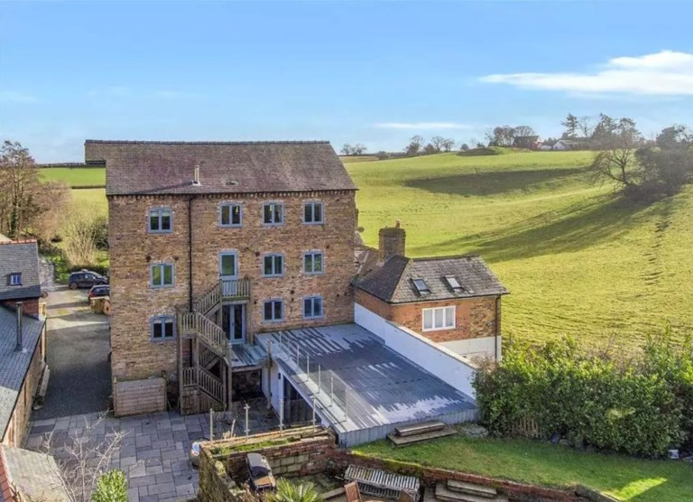five-bedroom converted mill, oswestry