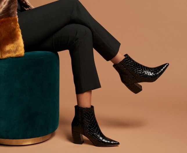 Rabia Maddah modelling shoes for kurt geiger