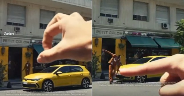 Stills from a Volkswagen ad accused of racism