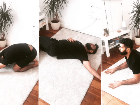 Six stretches to relieve back pain while working from home