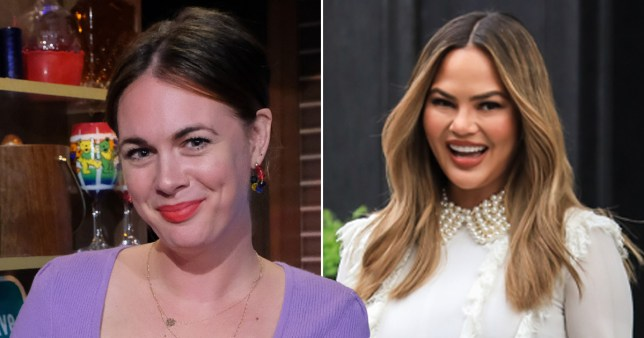 Alison Roman pictured separately alongside Chrissy Teigen