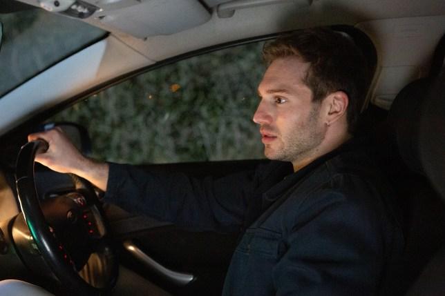 Jamie Tate behind the wheel of car in Emmerdale