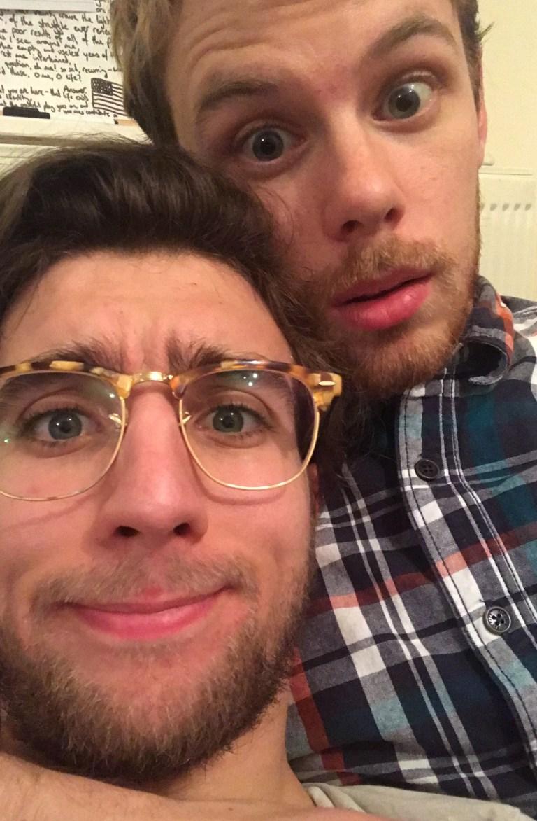 A selfie of Andrea and his ex turned boyfriend Jordan