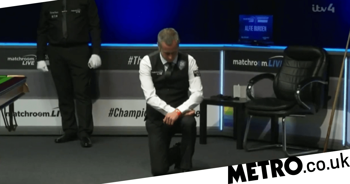 Alfie Burden brings Black Lives Matter movement to snooker by taking a knee at Championship League - metro