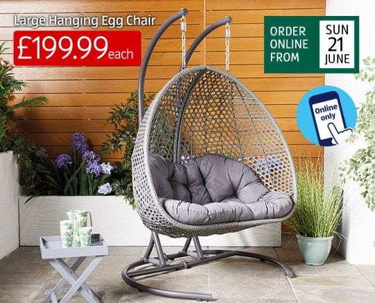 Aldi Brings Out A Giant Double Hanging Egg Chair For 199 Metro News