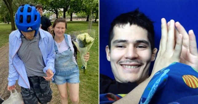 Stephen Andrade-Martinez, 25, with his mother Leo. Stephen spent six years in different mental health units after he was sectioned under the Mental Health Act aged 18.
