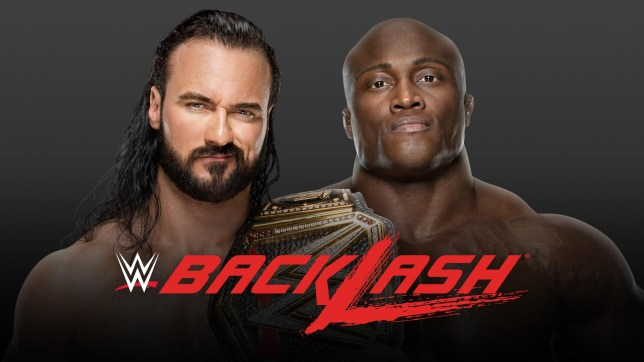 Drew McIntyre and Bobby Lashley poster for WWE Championship Match at Backlash