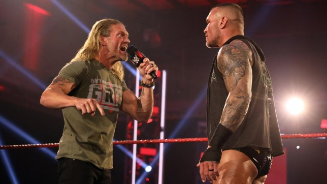 WWE superstars Edge and Randy Orton on Raw