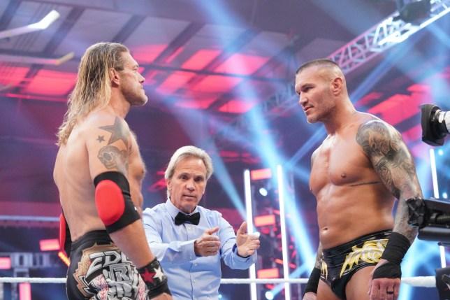 WWE superstars Edge and Randy Orton at Backlash