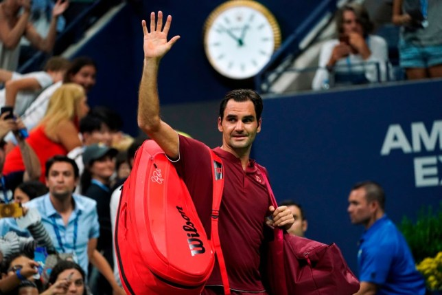 Roger Federer bids farewell to the US Open crowd