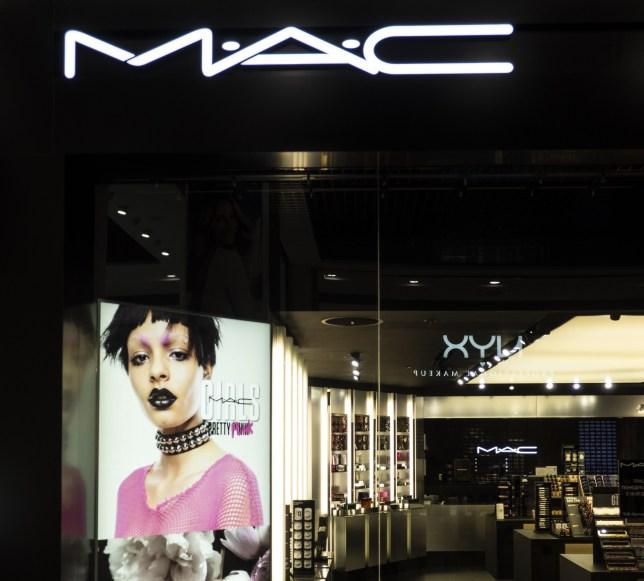 MAC Cosmetics store seen at Globus mall, Ukraine.