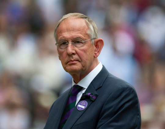 Chief Executive of the All England Club Richard Lewis after the Final of the Ladies Singles on Day Twelve of The Championships - Wimbledon 2019 at All England Lawn Tennis and Croquet Club on July 13, 2019 in London, England. (