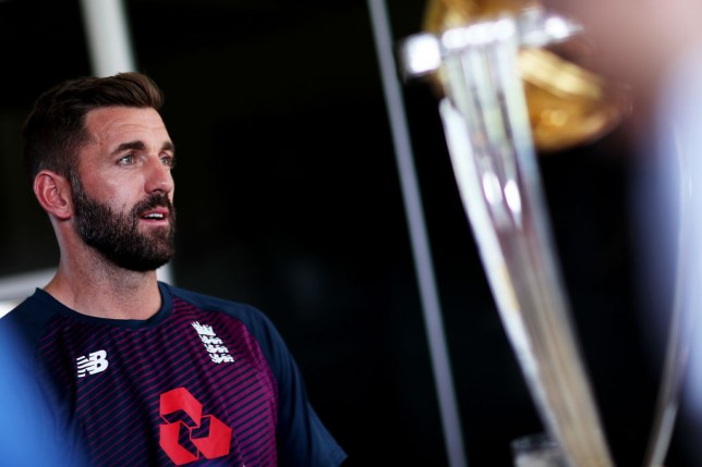 England bowler Liam Plunkett with the Cricket World Cup trophy